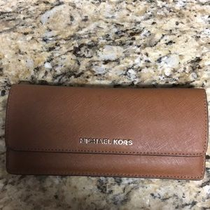 Michael Kors tan/brown wallet
